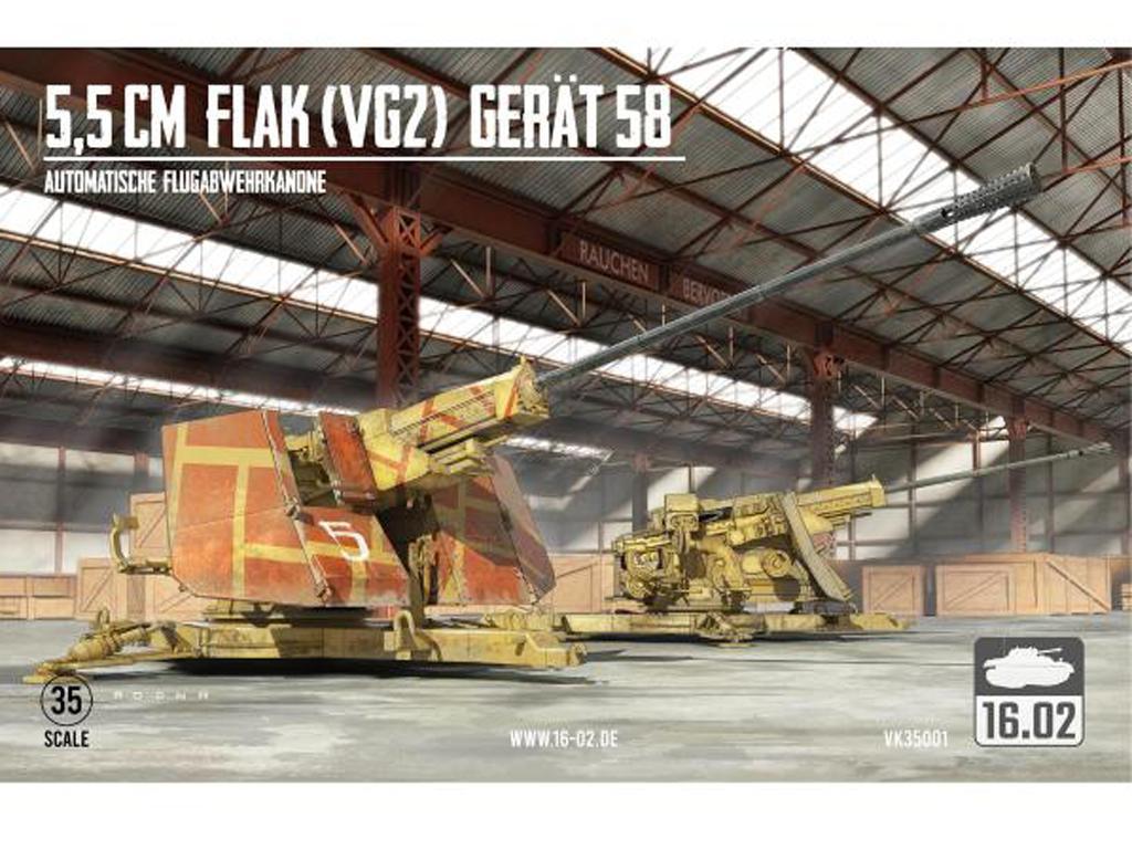 5,5cm Flak (VG2) Gerät 58 Autom. Flugabwehrkanone (Vista 1)