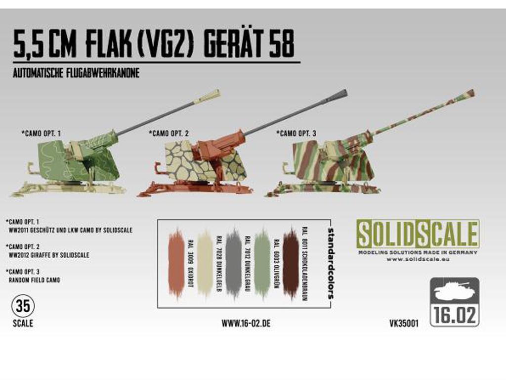 5,5cm Flak (VG2) Gerät 58 Autom. Flugabwehrkanone (Vista 3)