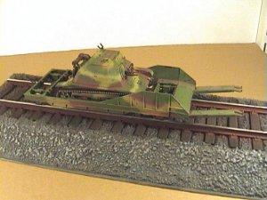 Vagón portacarros polaco y tanqueta  (Vista 1)
