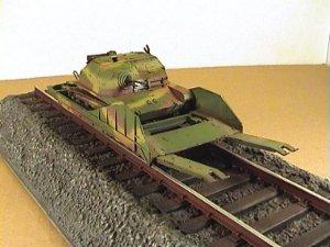Vagón portacarros polaco y tanqueta  (Vista 5)