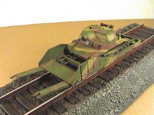 Vagón portacarros polaco y tanqueta  (Vista 6)