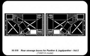 Panther G- Vol.5- Rear tool boxes (Tamiy