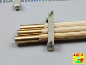 Barrel cleaning rods with brackets for T
