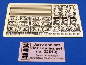 Jerry can set (for Tamiya set no. 32510)