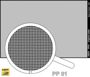 Engrave plate (88 x 57mm) - pattern 01  (Vista 2)