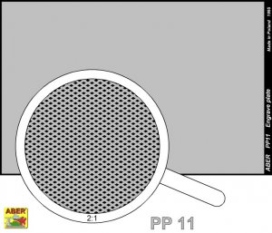 Engrave plate (88 x 57mm) - pattern 11  (Vista 2)