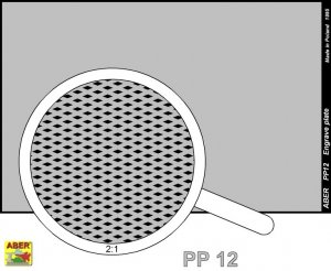 Engrave plate (88 x 57mm) - pattern 12  (Vista 2)