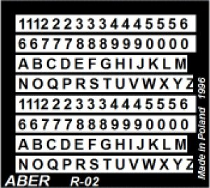 Níºmeros y letras 1'5mm  (Vista 1)
