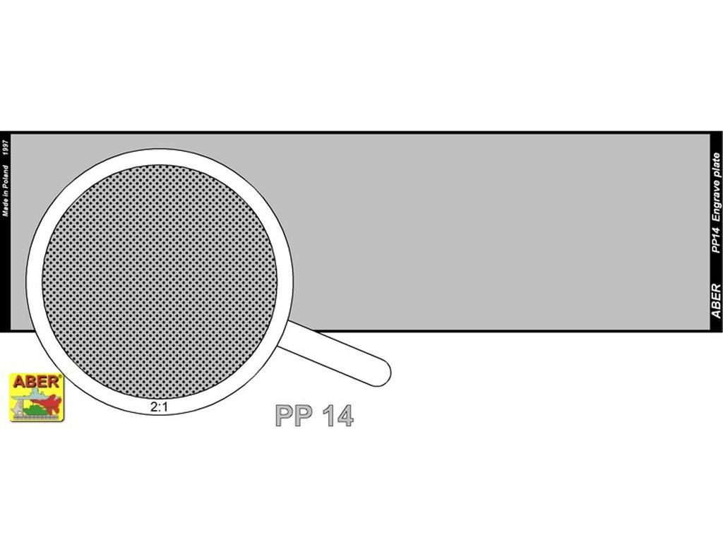 Placa de grabado (140 x 39 mm) - patrón 14 (Vista 2)