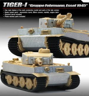 Tiger I Gruppe Fehrmann April 1945  (Vista 2)