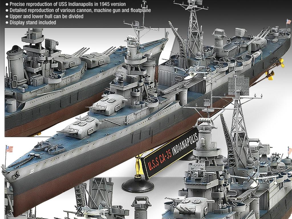 USS Indianapolis CA-35 Heavy Cruiser  (Vista 2)