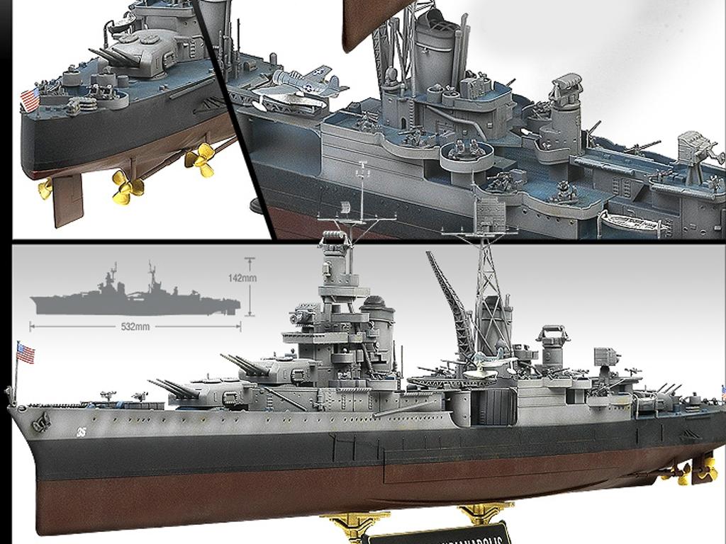 USS Indianapolis CA-35 Heavy Cruiser  (Vista 3)