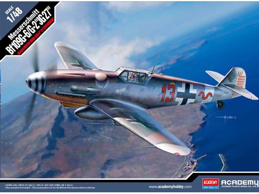 Messerschmitt BF109G-6/G-2 JG 27 (Vista 1)