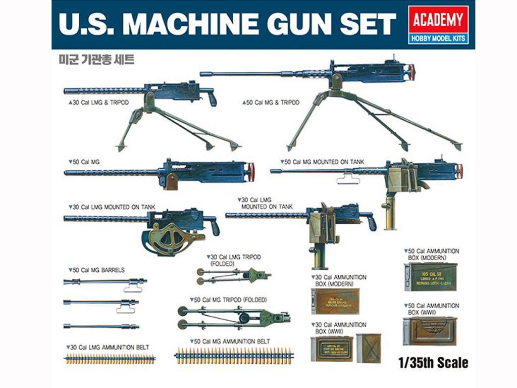 Juego de ametralladoras de EE.UU. (Vista 1)