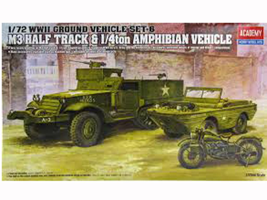 M3 Half Track & 1/4ton Amphibian Vehicle (Vista 1)