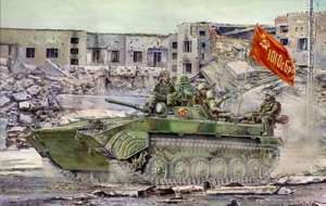 BMP-1 in action (Soviet IFV)