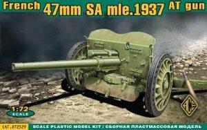47mm SA mle. 1937 Anti-Tank Guns  (Vista 1)