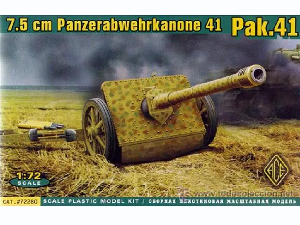 German Antitank Pak 41 - 75mm  (Vista 1)