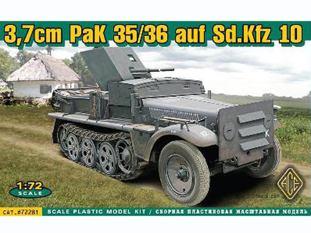 German Demag D7 - Sdkfz.10 with A.T. 37m (Vista 1)