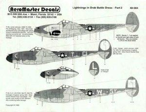 Lockheed P 38 Lightning en Livre Olive T  (Vista 1)