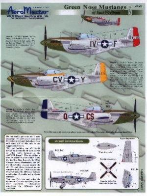 North American P 51 D Mustang Nez Vert D  (Vista 1)