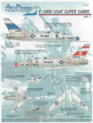 USAF Super Sabres F-100 PT II  (Vista 1)