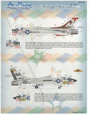 Colorful Crusaders, F-8s, Pt VIII - A/C  (Vista 1)