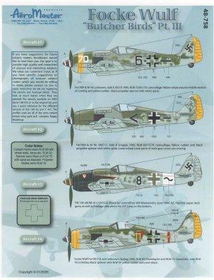 Focke Wulf Butcher Birds, Pt III (Fw-190  (Vista 1)