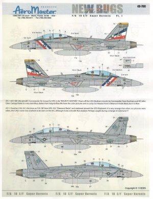New Bugs of the Fleet, F/A 18-F, pt1 - V  (Vista 1)