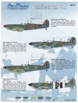 Seafires At War, Pt II (Seafire Mk.L.IIc  (Vista 1)