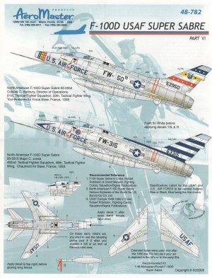 F-100D USAF Super Sabre, Pt VI (F-100 Su  (Vista 1)