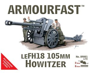 Howitzer gun LeFH18-105 and crew