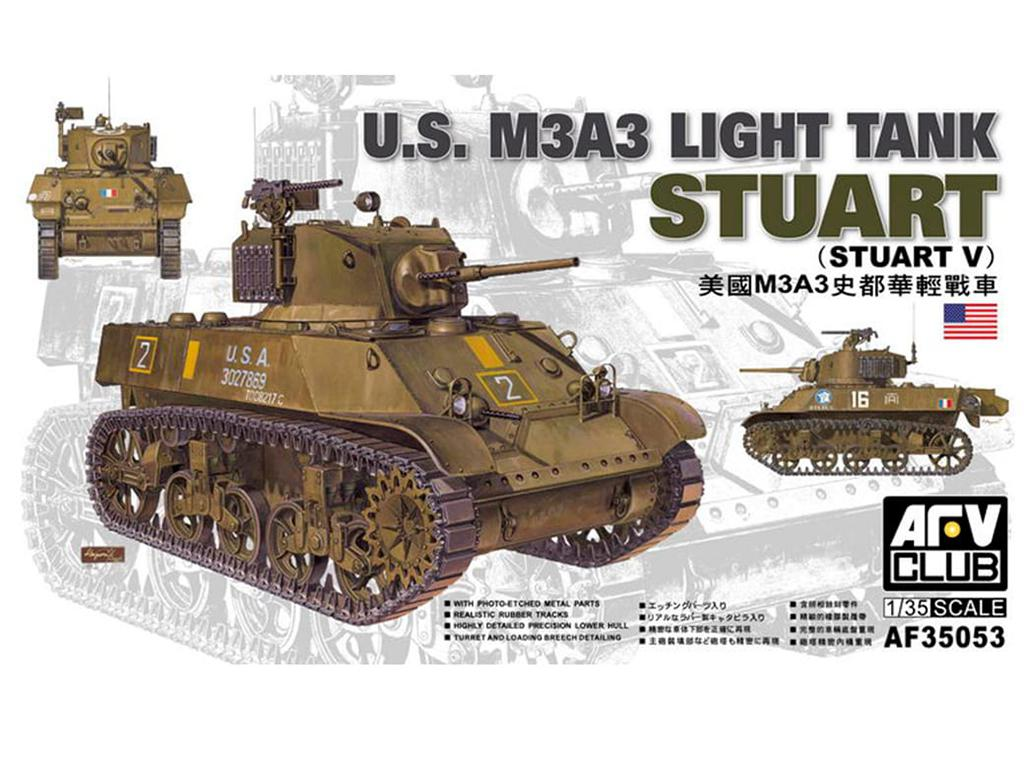 M3A3 Stuart Light Tank - Ref.: AFVC-35053