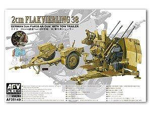 Flakvierling 38 with trailer 4x2cm   (Vista 1)