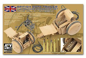 British Rota trailer w/2 Pounder Ammunit