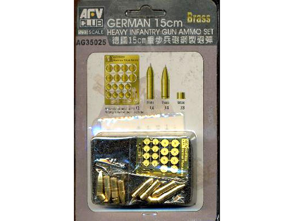 German 15cm Heavy Infantry Gun Ammo Set