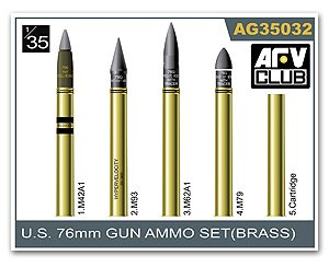 U.S. 76mm Gun Ammo Set(Brass)  (Vista 1)