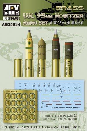 U.K. 95mm Howitzer Ammo Set (Brass)  (Vista 1)