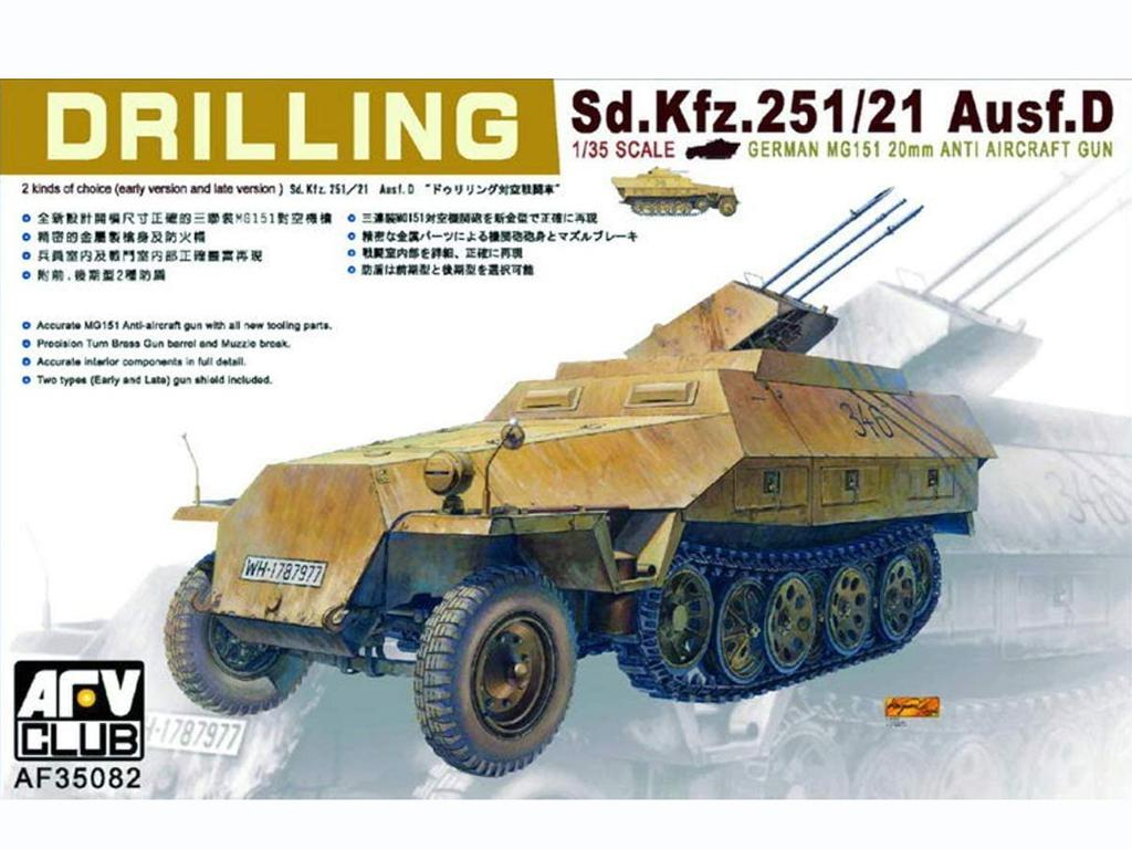 Sd.Kfz.251/21 Ausf.D. 'Drilling' (Vista 1)
