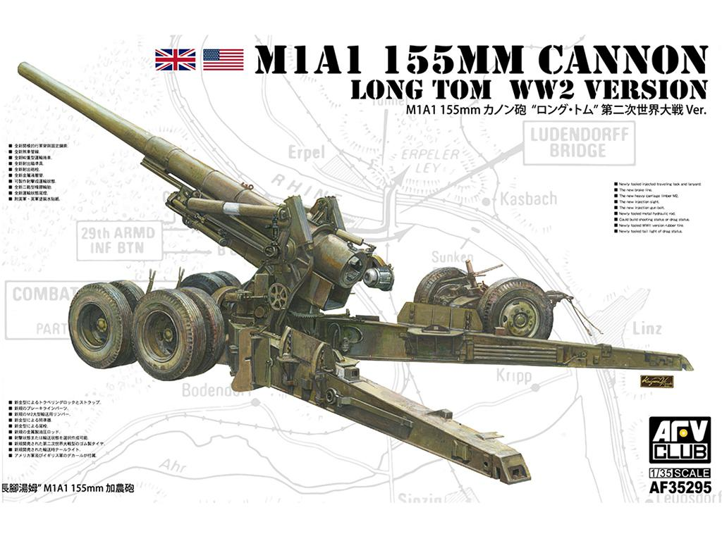 M1A1 155mm CANNON Long Tom WW 2 Version  (Vista 1)