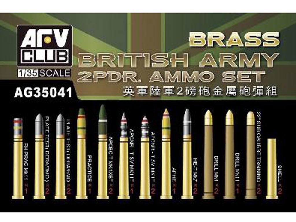 Munición 2pdr del ejército Británico (Vista 1)