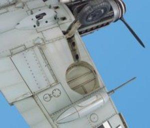 Bf 109 wheel bay - HASEGAWA  (Vista 1)