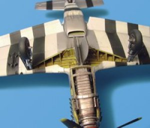 P-51D Mustang wheel bay – Tamiya  (Vista 1)