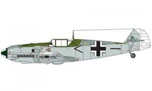 Messerschmitt BF109E  (Vista 4)
