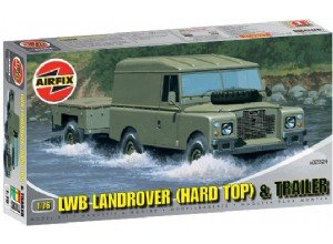 LWB Landrover (Hard Top) and Trailer