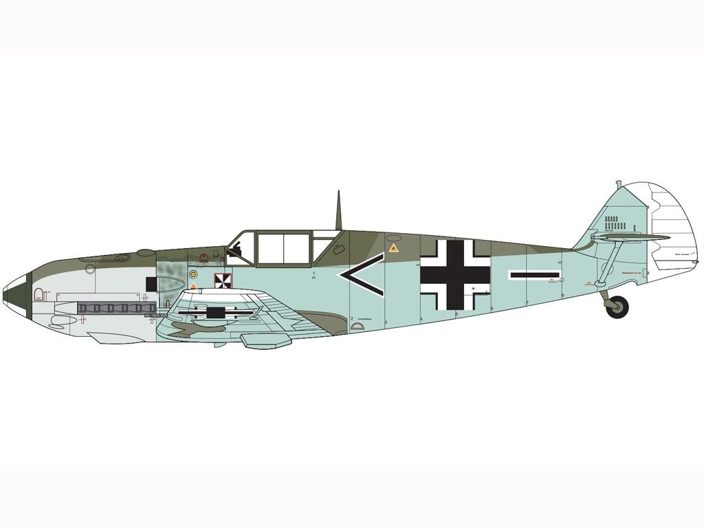 Messerschmitt Bf109E-3/E-4  (Vista 2)