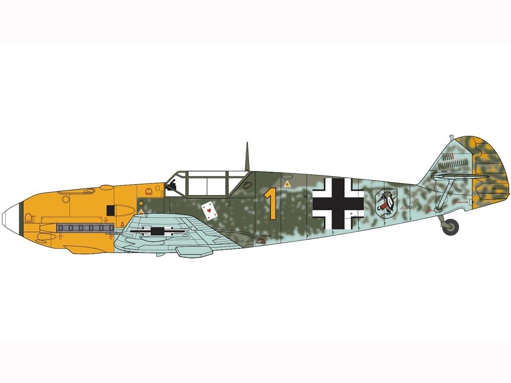 Messerschmitt Bf109E-3/E-4  (Vista 3)