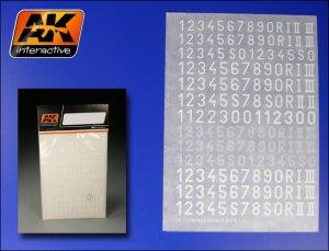 Numerales Alemanes Blancos  (Vista 1)