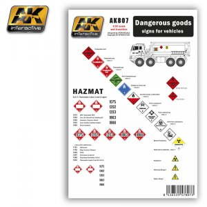 Dangerous Goods signs for vehiculos