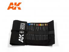 Estuche de tela lápices gama completa - Ref.: AKIN-AK10048